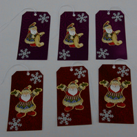Christmas Gift Tags with Santa