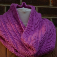 Knitting Pattern Cowl scarf