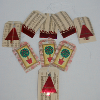 Christmas Gift Tags a mixed set of Nine
