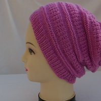 Knitting Pattern Slouch Beanie Hat