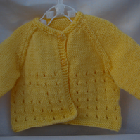 Knitting Pattern Jessilyn Baby Girl Cardigan
