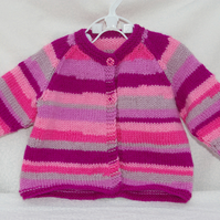 Baby Girl Cardigan in Pinks.