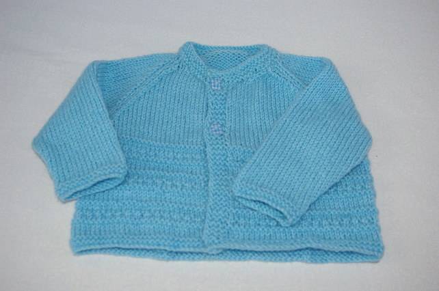 Baby Boy Cardigan in Light Blue