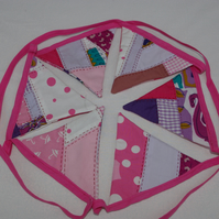 Bunting Patchwork Pink and Purple