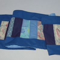 Table Runner in Patchwork Blues
