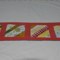 Table Runner diagonal stripes spring colours