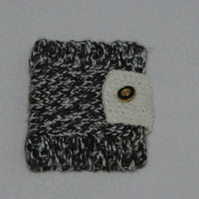Sewing Needle Case in Black and White