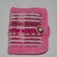 Sewing Needle Case or Tidy in Pink