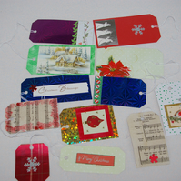 Christmas Upcylced Assorted Gift Tags