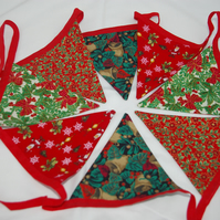 Bunting Red and Green Christmas Bunting