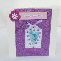 Valentine's Day Card with pretty tag