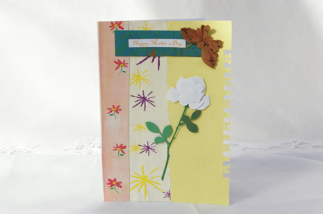 White Rose Mother's Day Card