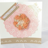 Mother's Day Card with orange flower.
