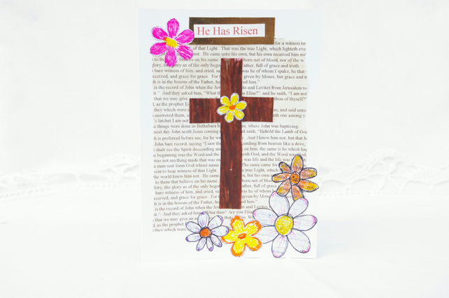 Easter Card Traditional Christian Religious Eas Folksy