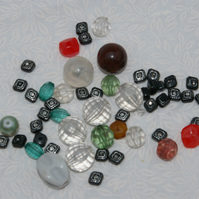 Beads mixed bag of acrylic beads