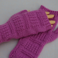 Knitting Pattern Fingerless Gloves Mittens Pattern C