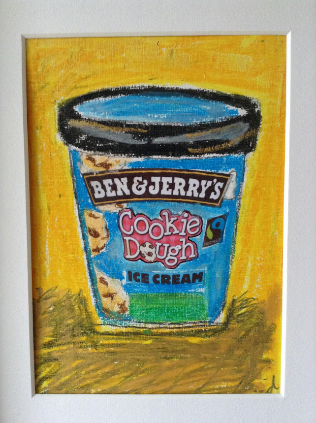 Ben and Jerry's ice cream - mixed media art