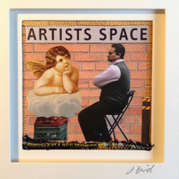 Artists Space. Mixed media picture. collage, art, framed, decor, inspirational