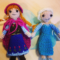 Anna and Elsa Frozen amigurumi