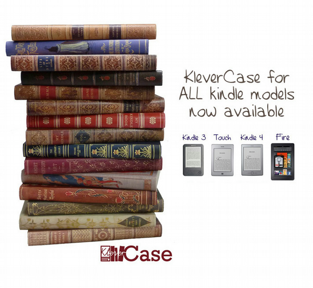 Kindle Case, KleverCase Classic Book Cover for Kindle 3, 4, Touch & Fire