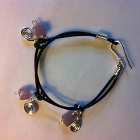Hippy Chick! Girls leather charm bracelet