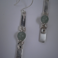 jaded ~ sterling silver earrings