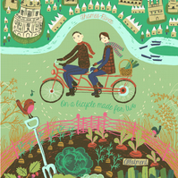 Allotment and tandem bicycle wall art print