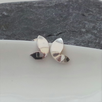 Butterfly Studs - Sterling Silver Butterfly Wing Stud Earrings