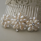 Emily Pearl Hair Comb - Floral Freshwater Pearl and Crystal Wedding Hair Comb