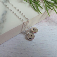 Initial Dot Necklace Snowflake Personalised Necklace