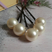 Large Pearl Bridal or Bridesmaids Hair Pins