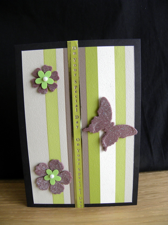 On Your Special Day Butterfly A6 Card