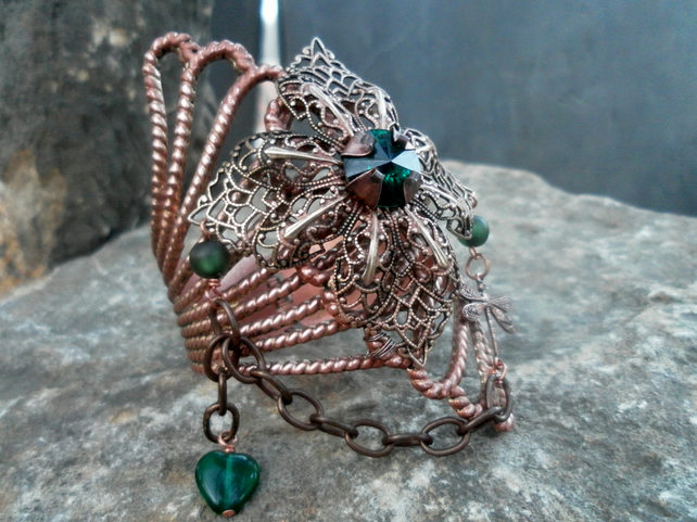 Upcycled vintage inspired copper cuff