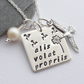 Alis Volat Propriis - she flies with her own wings - Sterling Silver Necklace