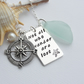 Scottish Sea Glass and Handstamped Sterling Silver Necklace - WANDER