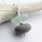 Scottish Sea Glass and Beach Stone Cairn Necklace