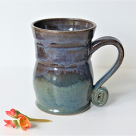 Large Mug - Tea, Coffee, Hot Chocolate, Ceramic Stoneware Pottery '4'