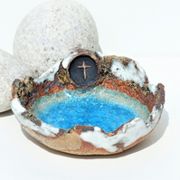 God Bless Sculptured Bowl  -Baptism, Christening, First Communion,Confirmation.