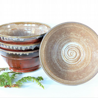 Rusett and Fawn Breakfast - Soup - Salad - Olive - Tapas Bowl Ceramic Stoneware