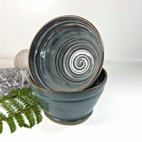 Beautiful Moody Skies Breakfast - Soup - Salad - Olive - Bowl Ceramic Stoneware