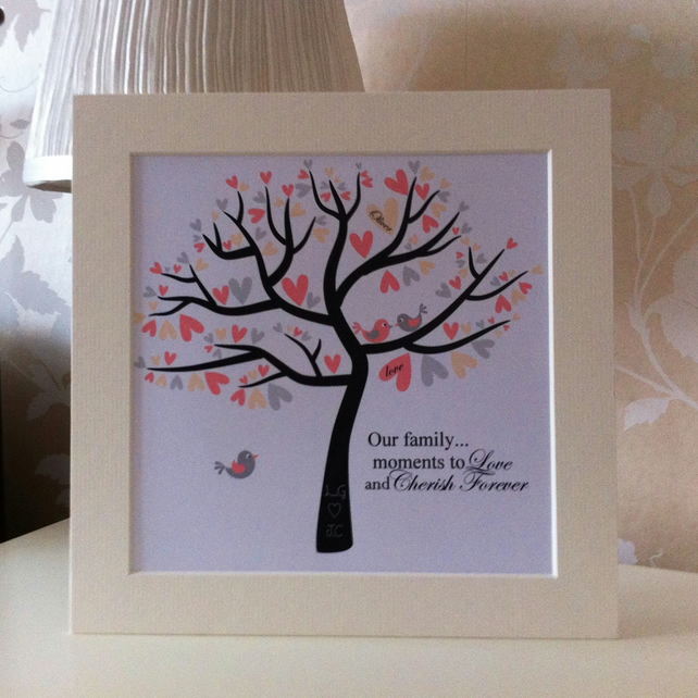 Wedding Gifts For Relatives : Family tree, wedding, anniversary, new baby giftFolksy