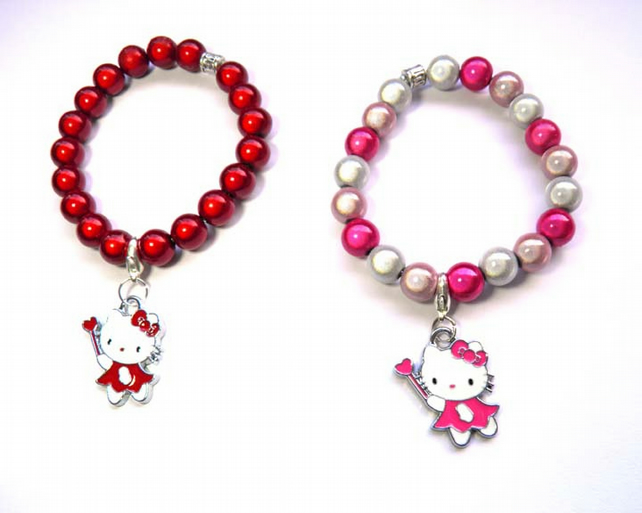 hello kitty glow bead bracelet