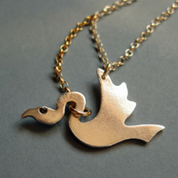 Caught Bird Necklace