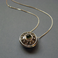 Green Tourmaline Circles & Spots Necklace