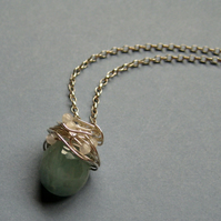 Aquamarine & Rose Quartz Nest Necklace