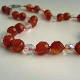 Carnelian Knotted Necklace