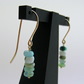 Gold and Peruvian Opal Drop Earrings