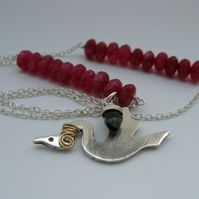 Silver Magical Bird Necklace
