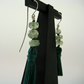 Green Tassel Earrings with Prehnite in Sterling Silver