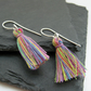 Summer Brights Cotton Tassel Festival Earrings